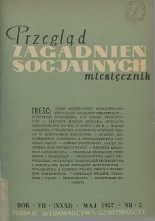 Przegląd Zagadnień Socjalnych : 1957, nr 5