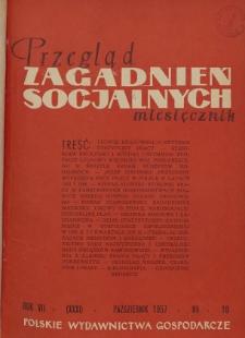 Przegląd Zagadnień Socjalnych : 1957, nr 9