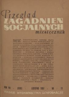 Przegląd Zagadnień Socjalnych : 1957, nr 10