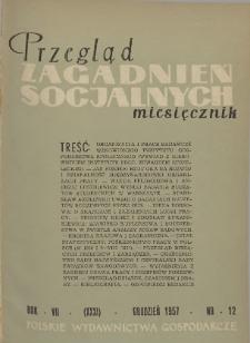 Przegląd Zagadnień Socjalnych : 1957, nr 11