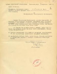Okólniki za rok 1936 Zakładu Ubezpieczeń Społecznych