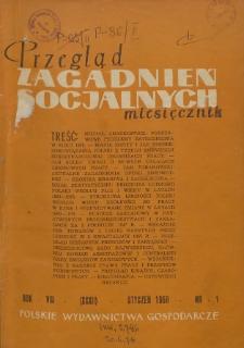 Przegląd Zagadnień Socjalnych : 1958, nr 1