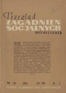 Przegląd Zagadnień Socjalnych : 1958, nr 2