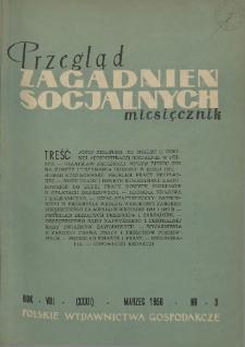 Przegląd Zagadnień Socjalnych : 1958, nr 3