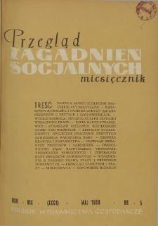 Przegląd Zagadnień Socjalnych : 1958, nr 5