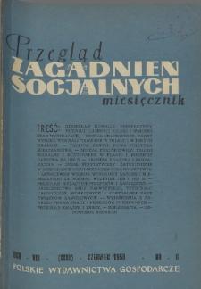 Przegląd Zagadnień Socjalnych : 1958, nr 6