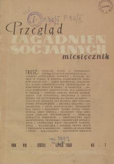 Przegląd Zagadnień Socjalnych : 1958, nr 7