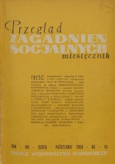 Przegląd Zagadnień Socjalnych : 1958, nr 10