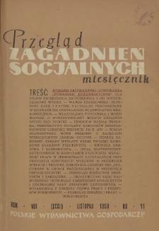Przegląd Zagadnień Socjalnych : 1958, nr 11