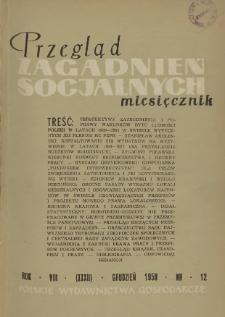 Przegląd Zagadnień Socjalnych : 1958, nr 12