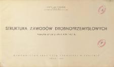 Struktura zawodów drobnoprzemysłowych : według spisu z dnia 9.XII.1931 r.