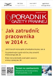 Poradnik Gazety Prawnej : 2014, nr 1