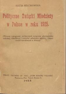 Polityczne związki młodzieży w Polsce w roku 1925