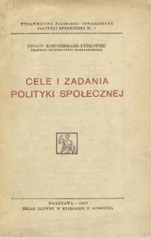 Cele i zadania polityki społecznej