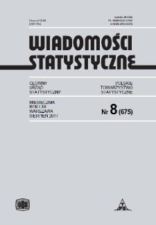 Wiadomości Statystyczne : 2017, nr 8