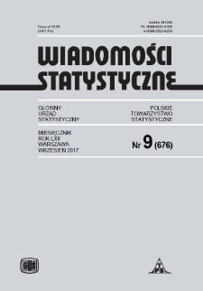 Wiadomości Statystyczne : 2017, nr 9