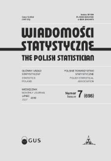 Wiadomości Statystyczne : 2019, nr 7