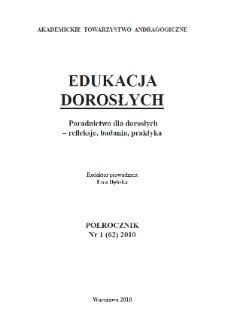 Edukacja Dorosłych : 2010, nr 1