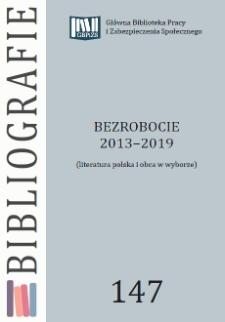 Bezrobocie : 2013-2019 : (literatura polska i obca w wyborze)