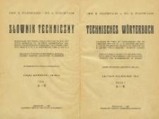 Technisches Wörterbuch : deutsch-polnischer Teil. Bd. 1, A-K