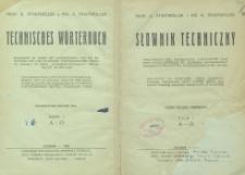 Słownik techniczny : część polsko-niemiecka. T. 1, A-Ó