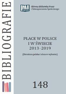 Płace w Polsce i w świecie : 2013-2019 : (literatura polska i obca w wyborze)