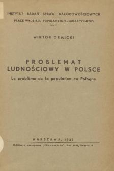 Problemat ludnościowy w Polsce