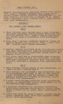 """Układ zbiorowy pracy pomiędzy Przedsiębiorstwem Państwowym Polskie Linie Lotnicze """"LOT"""" a Zarządem Głównym Związku Zawodowego Transportowców zawarty w Warszawie w dniu 1 stycznia 1949."""