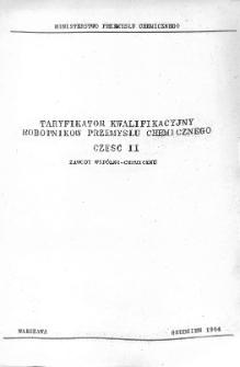 Taryfikator kwalifikacyjny robotników przemysłu chemicznego. Cz. 2, Zawody wspólno-chemiczne