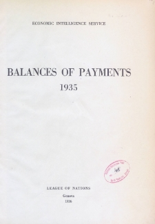 Balances of payments