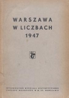 Warszawa w liczbach : 1947