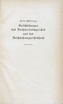 Arbeitsrechts-Sammlung. Bd. 45, Entscheidungen des Reichsarbeitsgerichts und des Reichsehrengerichtshofs, der Landesarbeitsgerichte, Arbeitsgerichte und Ehrengerichte