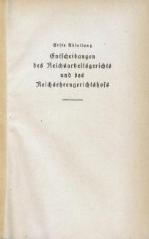 Arbeitsrechts-Sammlung. Bd. 41, Entscheidungen des Reichsarbeitsgerichts und des Reichsehrengerichtshofs, der Landesarbeitsgerichte, Arbeitsgerichte und Ehrengerichte