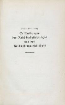Arbeitsrechts-Sammlung. Bd. 34, Entscheidungen des Reichsarbeitsgerichts und des Reichsehrengerichtshofs, der Landesarbeitsgerichte, Arbeitsgerichte und Ehrengerichte