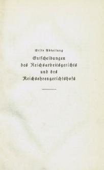 Arbeitsrechts-Sammlung. Bd. 36, Entscheidungen des Reichsarbeitsgerichts und des Reichsehrengerichtshofs, der Landesarbeitsgerichte, Arbeitsgerichte und Ehrengerichte