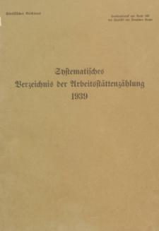 Systematisches Verzeichnis der Arbeitsstättenzählung