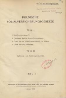 Polnische Sozialversicherungsgesetze. T. 1