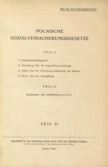 Polnische Sozialversicherungsgesetze. T. 2