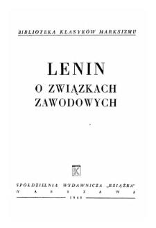 Lenin o związkach zawodowych