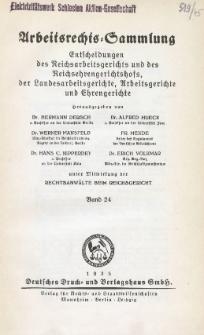 Arbeitsrechts-Sammlung. Bd. 24, Entscheidungen des Reichsarbeitsgerichts und des Reichsehrengerichtshofs, der Landesarbeitsgerichte, Arbeitsgerichte und Ehrengerichte