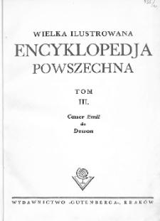 Wielka ilustrowana encyklopedja powszechna. T. 3, Cauer Emil do Dewon