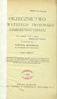 Orzecznictwo Najwyższego Trybunału Administracyjnego : za lata 1929-1931