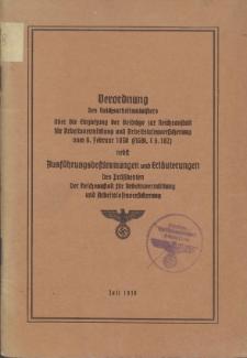 Verordnung des Reichsarbeitsministers über die Einziehung der Beiträge zur Reichsanstalt für Arbeitsvermittlung und Arbeitslosenversicherung vom 9 Februar 1938