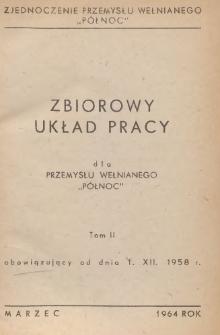 """Zbiorowy układ pracy dla przemysłu wełnianego """"Północ"""" : obowiązujący od dnia 1 XII 1958 r."""