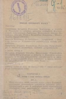 Układ zbiorowy pracy [dla przemysłu graficznego zawarty w dniu 10 stycznia 1949 r.]