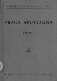 Praca Społeczna. Z. 1.