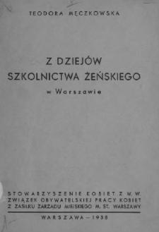 Z dziejów szkolnictwa żeńskiego w Warszawie