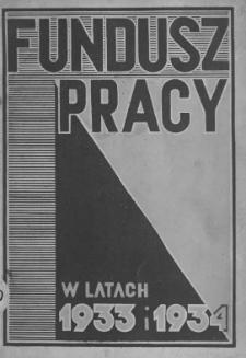 Fundusz pracy w latach 1933 i 1934