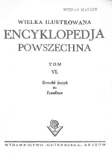 Wielka ilustrowana encyklopedja powszechna. T. 6, Grecki język do Izasław