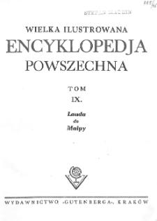 Wielka ilustrowana encyklopedja powszechna. T. 9, Lauda do Małpy